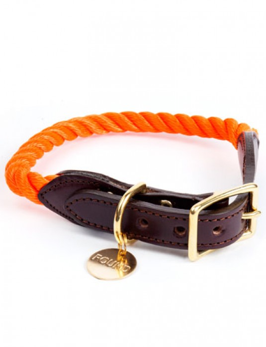 Collier en corde orange